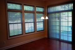 Picture Of Sliding Door Motorized Window Treatment With Matching Window Shades In NJ - Speedwell Design Center