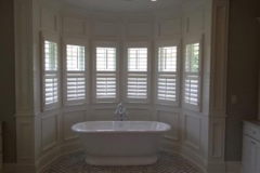 Picture Of Wooden Window Treatment In A Bathroom In NJ - Speedwell Design Center