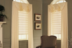 Windows In Corner With Light Custom Drapes - Morristown, NJ - Speedwell Design Center