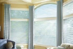 Blue Custom Window Drapes - Morristown, NJ - Speedwell Design Center