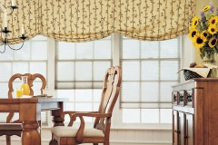 Bright Dining Room With Custom Drapes - Morristown, NJ - Speedwell Design Center