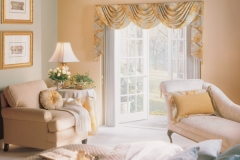Open Glass Door With Custom Drapes - Morristown, NJ - Speedwell Design Center