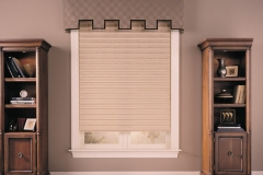 Single Window With Gray Custom Drapes - Morristown, NJ - Speedwell Design Center