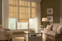 Living Room With Light Drapes - Morristown, NJ - Speedwell Design Center