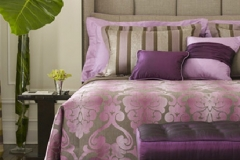 Bed Reupholstered in Purple - Morristown, NJ - Speedwell Design Center