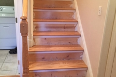 Photo Of Hardwood Flooring Being Installed On NJ Staircase - Speedwell Design Center