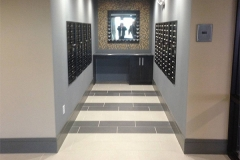 Photo Of Black And White Tile Flooring In NJ Lobby Mailroom - Speedwell Design Center