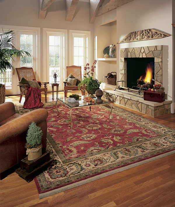 Photo Of Hardwood Flooring With Rug In Den   Speedwell Design Center