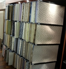 Photo Of Grecian Patterned Carpet Squares - Speedwell Design Center