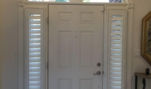 Picture Of Large Slatted Window Treatment For Skinny Entryway Windows In NJ - Speedwell Design Center