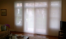 Picture Of Vertical Blinds On A Track In NJ - Speedwell Design Center