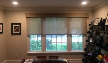 Picture Of Partial Motorized Window Treatment with Molding Accent In NJ - Speedwell Design Center