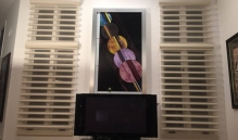 Picture Of Horizontal Wooden Slat Window Treatment In NJ - Speedwell Design Center