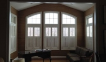 Photo Of Interior Wooden Shutters And Arched Windows In NJ - Speedwell Design Center