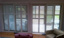 Picture Of White Metal Blinds With Thick Slats In NJ - Speedwell Design Center