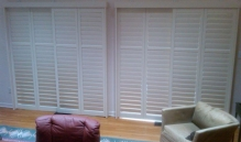 Picture Of White Metal Blinds Closed In NJ - Speedwell Design Center