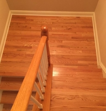 Photo Of Hardwood Flooring In Stairwell In NJ Home - Speedwell Design Center