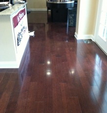 Photo Of Dark Hardwood Flooring In NJ Office - Speedwell Design Center