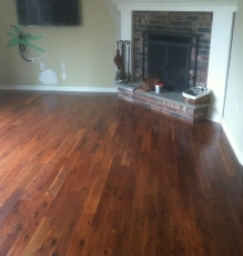 Photo Of Dark Hardwood Flooring And Fireplace In NJ Home - Speedwell Design Center