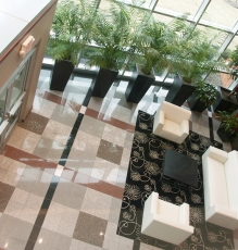 Overhead View Tile Flooring In NJ Lobby Photo - Speedwell Design Center