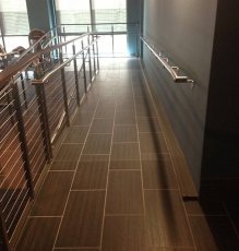 Photo Of Black Tile Flooring On Wheelchair Ramp In NJ Business - Speedwell Design Center