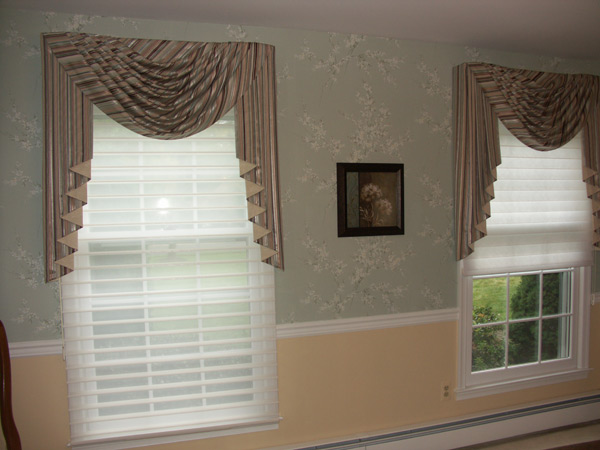 Swags And Cascade Window Treatment New Jersey