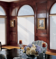 Photo Of Matching Transom And Main Window Treatments Using Metal Blinds In NJ - Speedwell Design Center