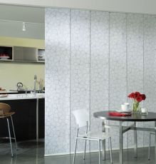 Photo Of Motorized Window Treatments Used As Room Partitions In NJ - Speedwell Design Center