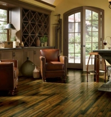 Photo Of Living Room With Hardwood Flooring in NJ - Speedwell Design Center