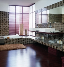 Photo Of Bathroom In NJ With Hardwood Flooring - Speedwell Design Center
