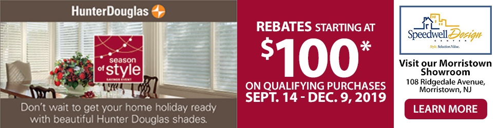 Hunter Douglas seasons of style event rebate