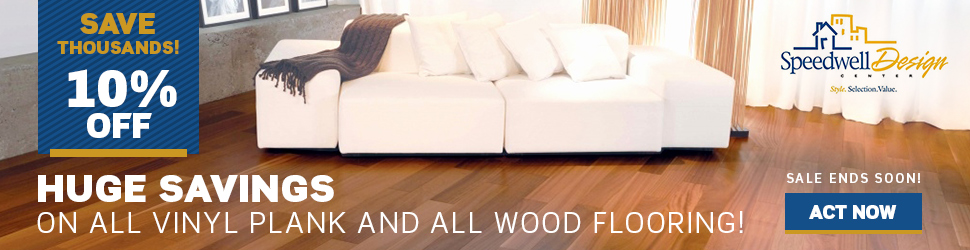 Winter Sale 10% off all Vinyl Plank and Wood Flooring