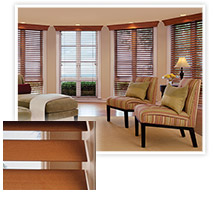 Picture Of Beautiful And Bright Wood Blinds That Give The Effect Of Interior Shutters In NJ - Speedwell Design Center