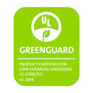 The UL GreenGuard Logo shows that Speedwell Design Center offers environmentally friendly products in NJ
