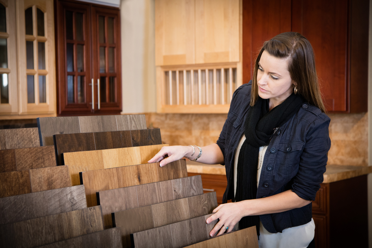 Woman Shopping for Flooring